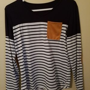 Tops - Long Sleeved Striped Tee
